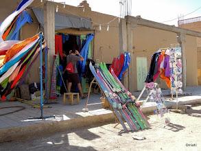 Photo: Merzouga, půjčovna materiálu do dun. Přeskáče ale neměl.
