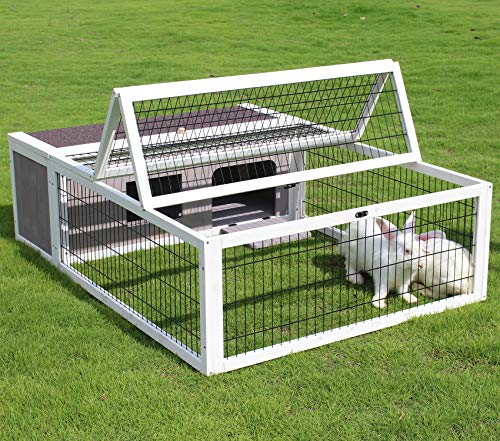 Small Animal Enclosure Outdoor for Rabbits Chicks Guinea Pigs Metal Wire Playpen, Tortoise House...