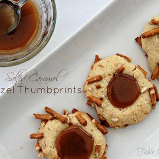 Salted Caramel Pretzel Thumbprints.