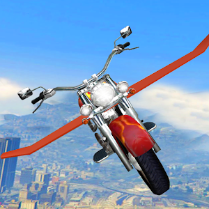 Flying Bike Attack Racer: Car Space Shooter