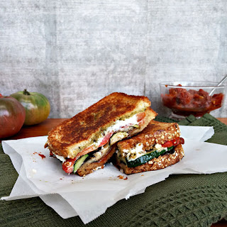Grilled Vegetable Sandwich With Tomato Jam