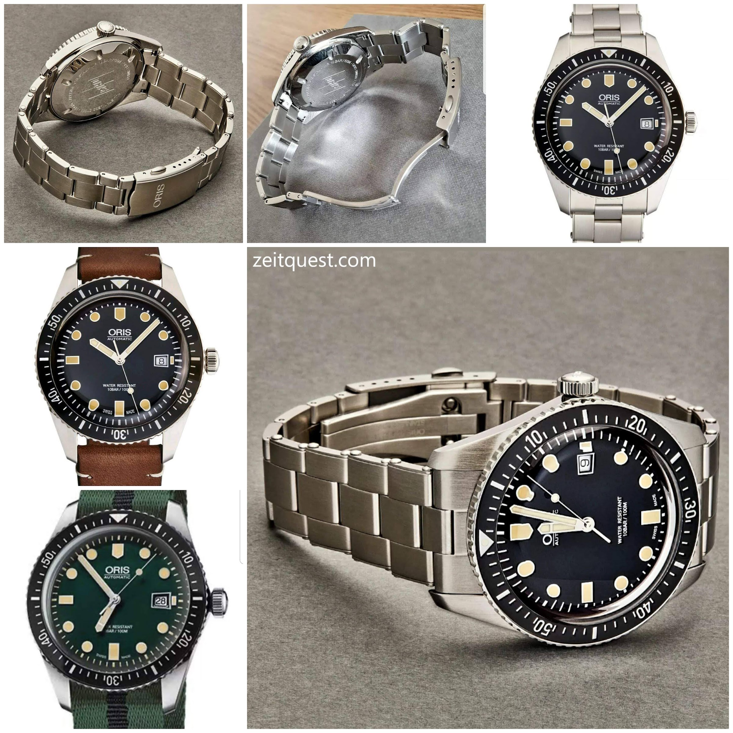 The Oris Sixty Five is a handsome vintage inspired diving watch. It is a re-edition of an old model dating from 1965. It can be seen as a great alternative to the pricey Rolex Submariner. Available on eBay.