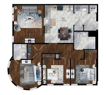 Go to Park St - 3 Bed, 2 Bath Floorplan page.
