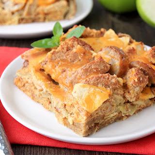 Healthy Apple-Sausage Strata Breakfast Casserole.
