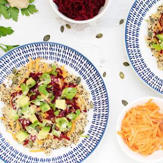 Rainbow Quinoa Buddha Bowl with Ginger Tahini Dressing [vegan] [gluten free]