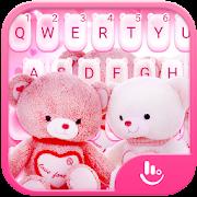 Lovely Pink Teddy Bear Keyboard Theme