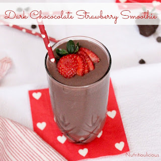 Dark Chocolate Strawberry Smoothie.