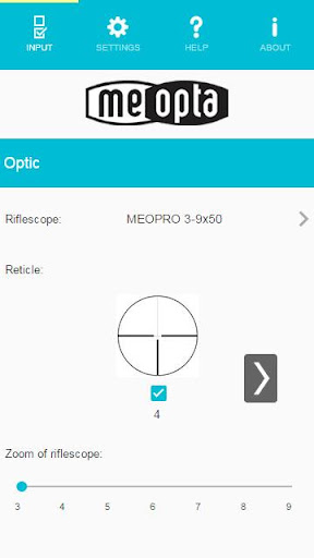 Meopta Ballistic Calculator