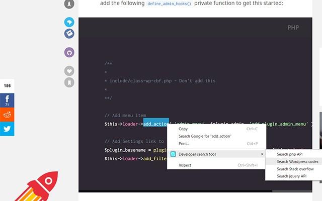 Developer search tool