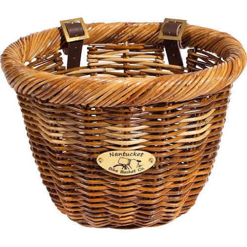 Nantucket Bike Basket Company Cisco Front Basket, Oval Shape Honey