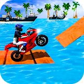 Beach Bike Fun Racing Stunt