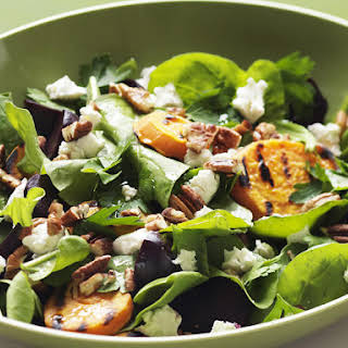 Beet, Pecan and Goat Cheese Salad.