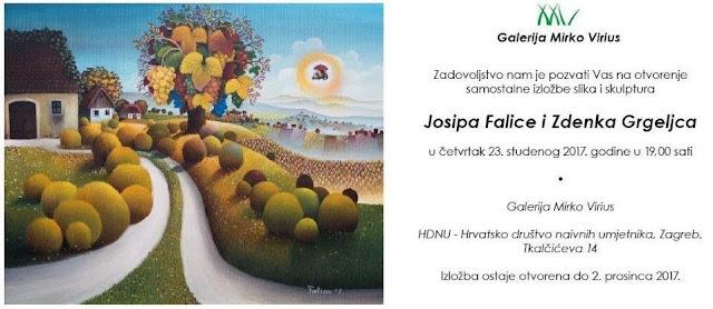 Izložba Josipa Falice i Zdenka Grgeljca