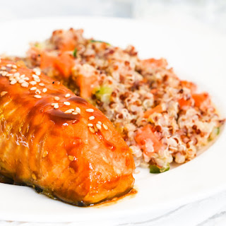 Orange and Ginger Salmon with Cooked Quinoa