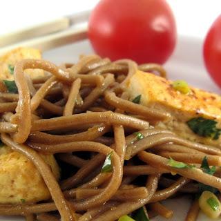 Otsu - Soba Noodle Salad with Pan Fried Tofu.