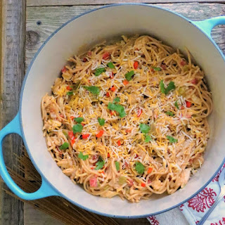 Hatch Green Chile Chicken Spaghetti
