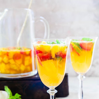 Virgin Strawberry Pineapple Sangria.