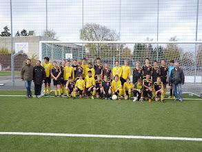 Photo: Rencontre de football entre des jeunes de Bad Buchau et Le Lion d'Angers sur terrain synthétique