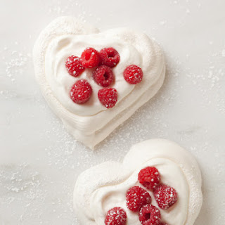 Pavlova Hearts with Chantilly Cream