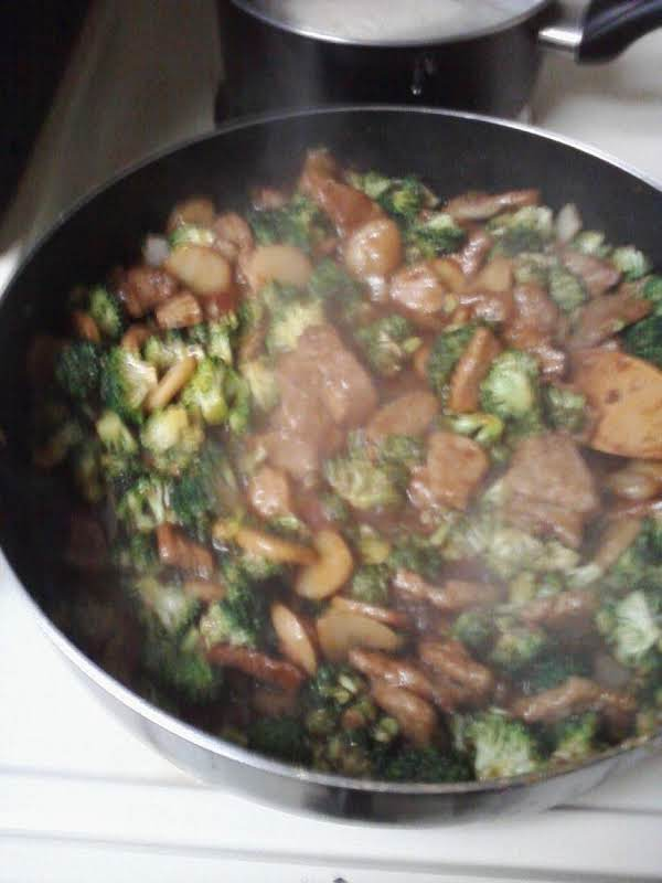 Beef With Broccoli, With Some Water Chestnuts Thrown In 'cuz I Like Them.