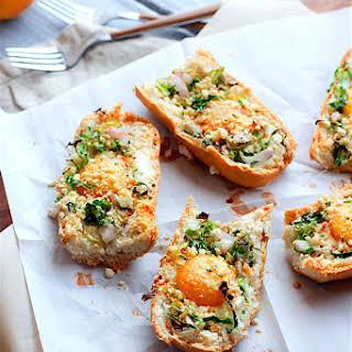 Healthy Veggie Stuffed Baked Egg Boats {Gluten Free}.