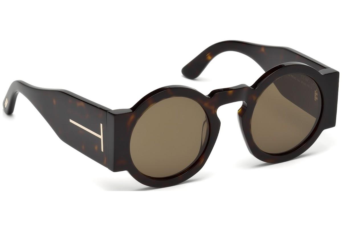 Tom Ford Damen Sonnenbrille » FT0603«, braun, 52J - braun/braun