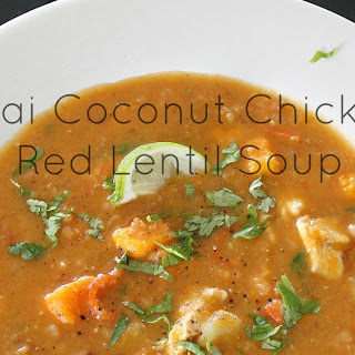 Thai Coconut Chicken Red Lentil Soup.