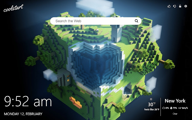 Minecraft HD Wallpapers New Tab Theme
