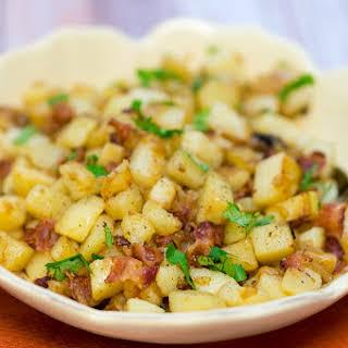 German Pan Fried Potatoes (Bratkartoffeln).