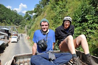Photo: 仲良くなったアイルランド人のウォーリーとジョン。