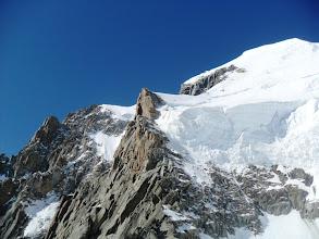 Photo: La escarpada cara norte del Tacul. Foto Ah.