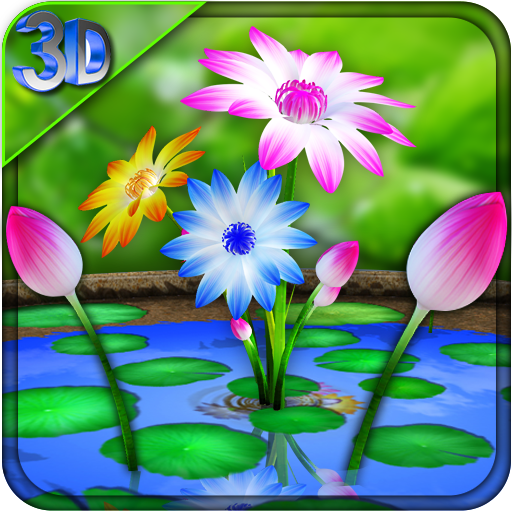 3D Flowers Touch Wallpaper