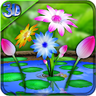 3D Flowers Touch Wallpaper icon