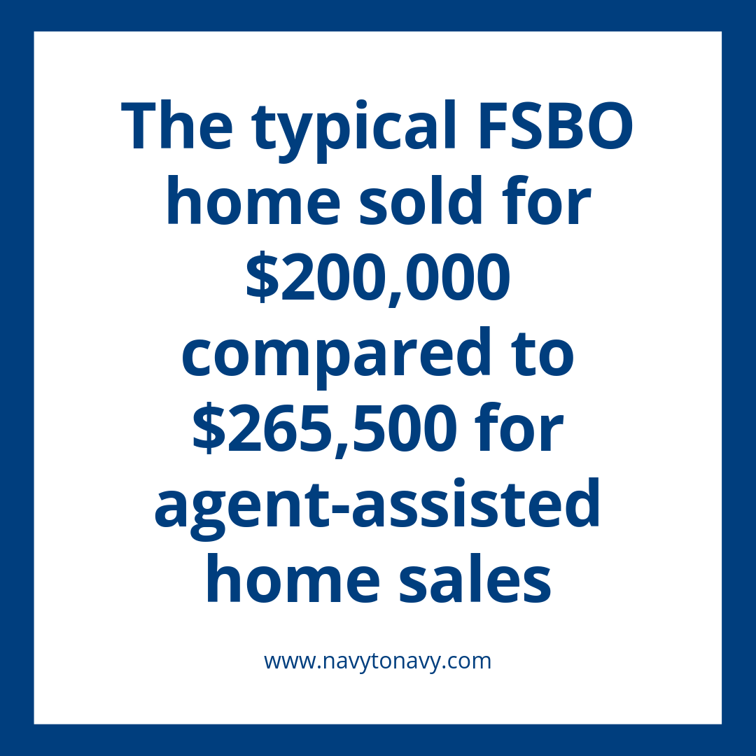 FSBO typical home sales navy to navy homes