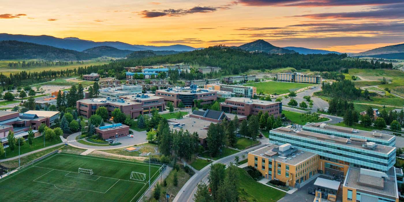 Aerial photo of the UBC Okanagan campus