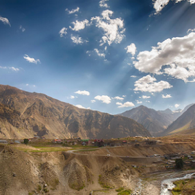 A valley  by Arslan Mughal - Landscapes Mountains & Hills ( canon, water, pakistan, mountains, hdr, cloudy, beauty, valley, landscape, world )