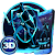 Neon Blue Superhero 3D Theme file APK Free for PC, smart TV Download
