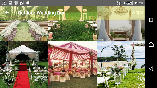 Outdoor wedding decoration apps on google play screenshot image junglespirit Image collections