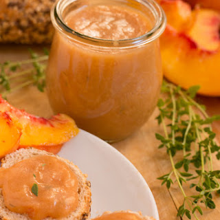 Peach Jam with Vanilla Rum and Thyme