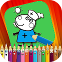 Coloring Book for Pink Pig: Paintbox icon