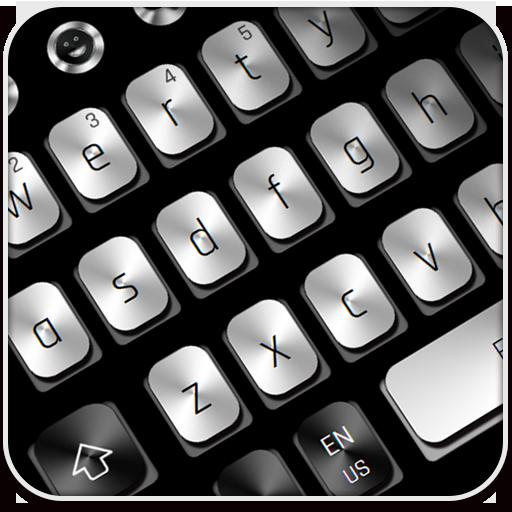 Black White Metal Keyboard
