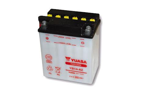 YUASA MC-batteri YB 14-A2 utan syrapack