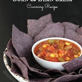 Black Bean and Corn Salsa Canning.