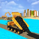 New Road Builder City Construction 3D Icon