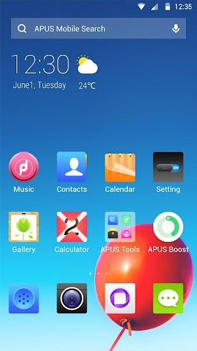 PURE SKY theme for APUS