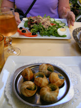 Photo: An especially nice lunch today, starting with Niçoise Salad and escargots.