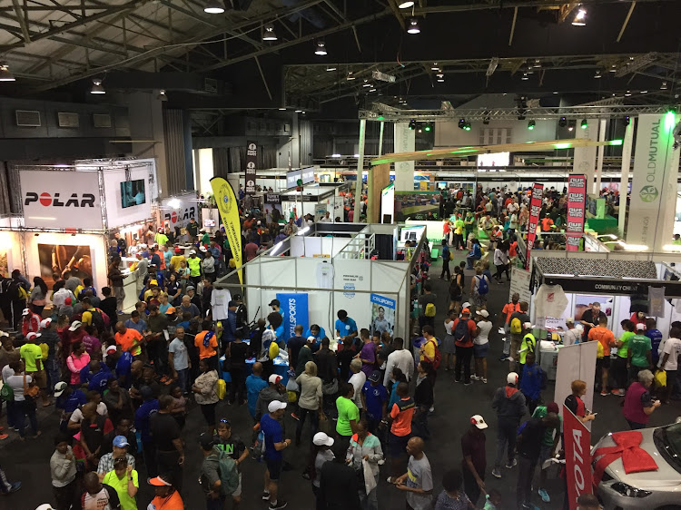 The Comrades Marathon Expo was the biggest attraction before the race on Sunday. 2003 Comrades champion Fusi Nhlapo.