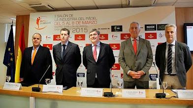 """Photo: Miguel Cardenal: """"¿Quién no ha jugado alguna vez al pádel?"""" Presentación del II Salón de la Industria del Pádel"""