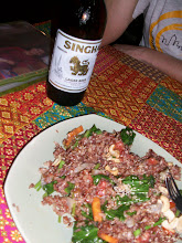 Photo: CENA VEGETARIANA CON OTTIMA BIRRA THAI