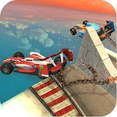 Chained Formula Cars Vs Ramps - Stunts Game
